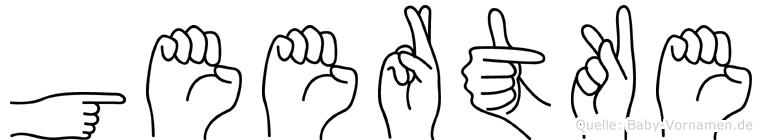 Geertke im Fingeralphabet der Deutschen Gebärdensprache