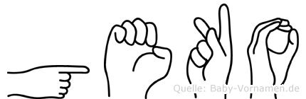 Geko im Fingeralphabet der Deutschen Gebärdensprache