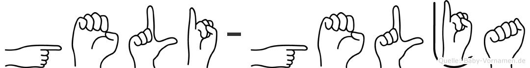 Geli-Gelja im Fingeralphabet der Deutschen Gebärdensprache