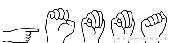 Gemma im Fingeralphabet der Deutschen Gebärdensprache