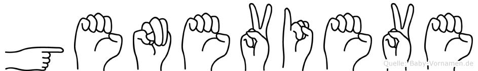 Genevieve im Fingeralphabet der Deutschen Gebärdensprache