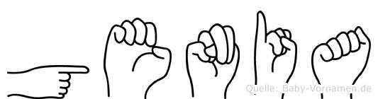 Genia im Fingeralphabet der Deutschen Gebärdensprache