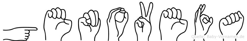 Genovefa im Fingeralphabet der Deutschen Gebärdensprache