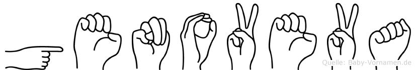 Genoveva im Fingeralphabet der Deutschen Gebärdensprache