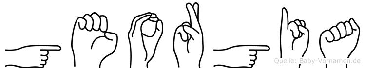 Georgia im Fingeralphabet der Deutschen Gebärdensprache