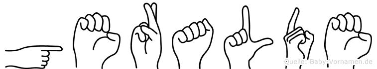 Geralde im Fingeralphabet der Deutschen Gebärdensprache