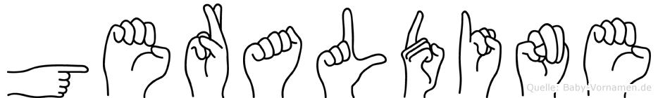 Geraldine in Fingersprache für Gehörlose