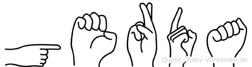Gerda in Fingersprache für Gehörlose