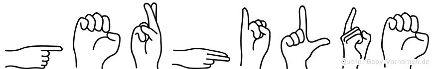 Gerhilde im Fingeralphabet der Deutschen Gebärdensprache