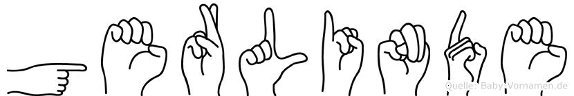 Gerlinde im Fingeralphabet der Deutschen Gebärdensprache