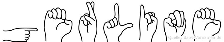Gerline in Fingersprache für Gehörlose
