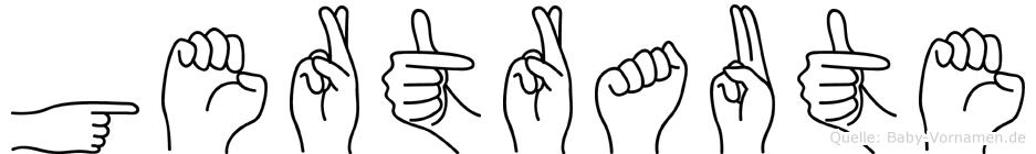 Gertraute im Fingeralphabet der Deutschen Gebärdensprache
