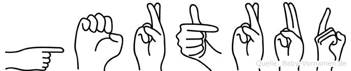 Gertrud in Fingersprache für Gehörlose