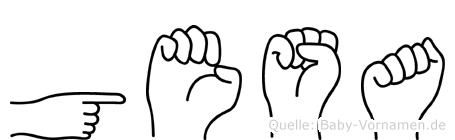 Gesa in Fingersprache für Gehörlose