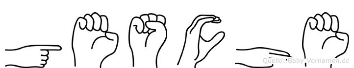 Gesche in Fingersprache für Gehörlose