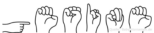 Gesine im Fingeralphabet der Deutschen Gebärdensprache