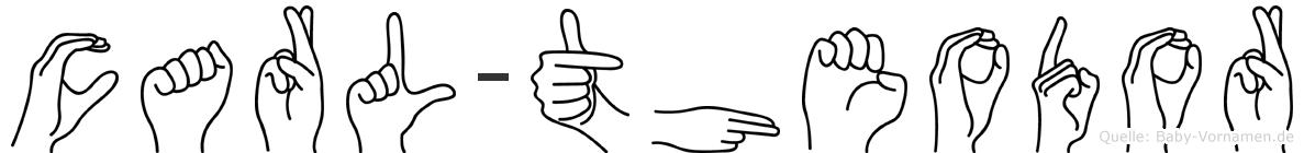 Carl-Theodor im Fingeralphabet der Deutschen Gebärdensprache