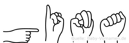 Gina in Fingersprache für Gehörlose