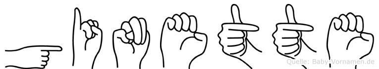 Ginette in Fingersprache für Gehörlose