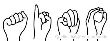 Aimo in Fingersprache für Gehörlose