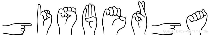 Gisberga in Fingersprache für Gehörlose