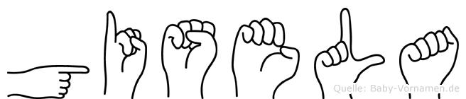 Gisela in Fingersprache für Gehörlose