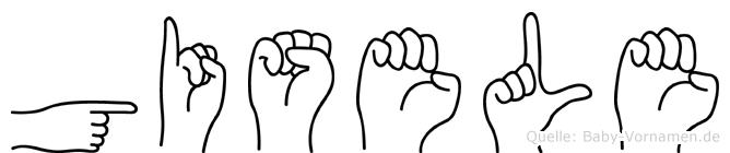 Gisele in Fingersprache für Gehörlose