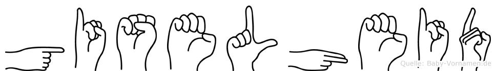 Giselheid im Fingeralphabet der Deutschen Gebärdensprache