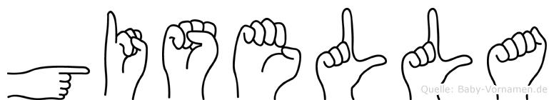 Gisella in Fingersprache für Gehörlose