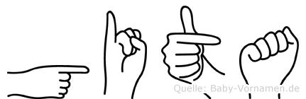 Gita im Fingeralphabet der Deutschen Gebärdensprache