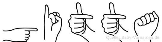 Gitta im Fingeralphabet der Deutschen Gebärdensprache