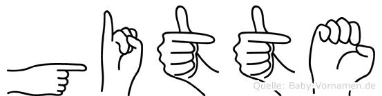 Gitte in Fingersprache für Gehörlose