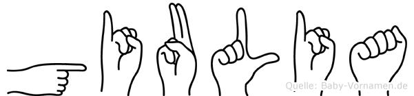Giulia in Fingersprache für Gehörlose
