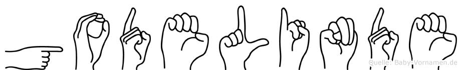 Godelinde in Fingersprache für Gehörlose