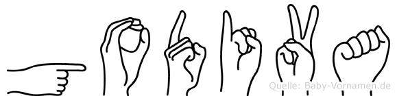 Godiva in Fingersprache für Gehörlose