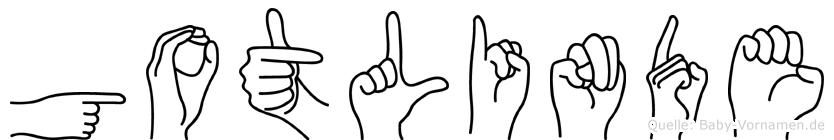 Gotlinde in Fingersprache für Gehörlose