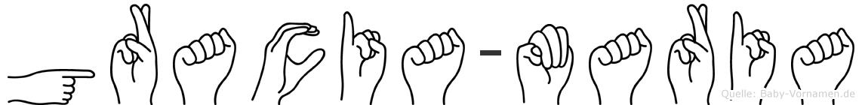Gracia-Maria im Fingeralphabet der Deutschen Gebärdensprache