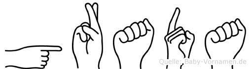 Grada in Fingersprache für Gehörlose