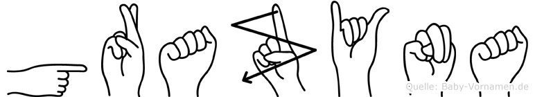 Grazyna im Fingeralphabet der Deutschen Gebärdensprache