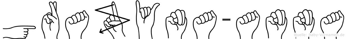 Grazyna-Anna im Fingeralphabet der Deutschen Gebärdensprache