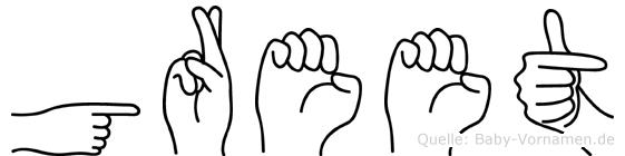 Greet in Fingersprache für Gehörlose