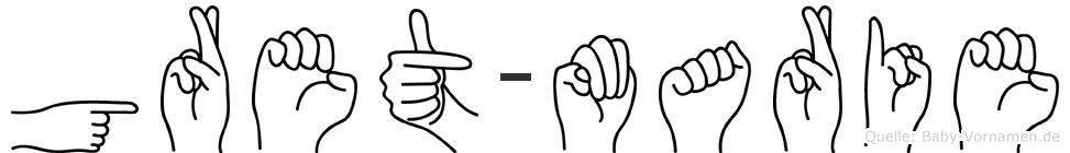 Gret-Marie im Fingeralphabet der Deutschen Gebärdensprache