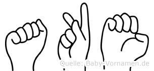 Ake in Fingersprache für Gehörlose