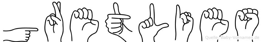 Gretlies in Fingersprache für Gehörlose
