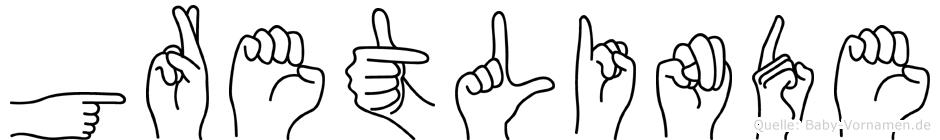 Gretlinde in Fingersprache für Gehörlose