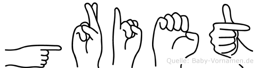 Griet in Fingersprache für Gehörlose