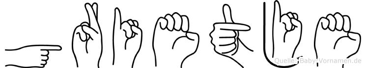 Grietje im Fingeralphabet der Deutschen Gebärdensprache