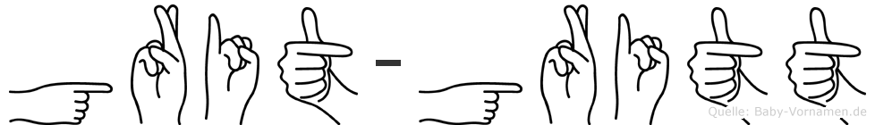 Grit-Gritt im Fingeralphabet der Deutschen Gebärdensprache