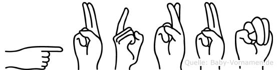 Gudrun in Fingersprache für Gehörlose