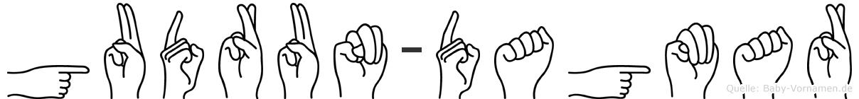 Gudrun-Dagmar im Fingeralphabet der Deutschen Gebärdensprache